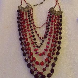 Vintage multi strand glass beads necklace